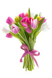 Bouquet of spring tulips flowers royalty free stock photo