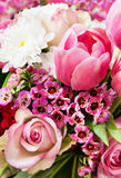Bouquet - springtime - with tulips and roses Royalty Free Stock Image