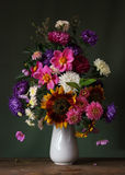 Bouquet. Still life with a bouquet of garden flowers Royalty Free Stock Photo