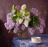 Bouquet. Still life with a bouquet of lilacs Stock Photos