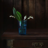 Bouquet. Still life with lilies of the valley Stock Photos