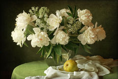 Bouquet. Still life with a bouquet of peonies Royalty Free Stock Photos