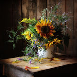 Bouquet. Still life with a bouquet of sunflowers Royalty Free Stock Photos