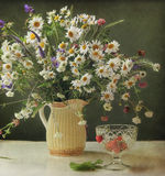 Bouquet. Still life with a bouquet of wild flowers Royalty Free Stock Images