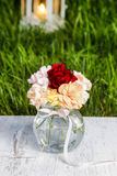 Bouquet of stunning colorful carnation flowers Stock Photography