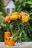Bouquet of stunning orange roses Royalty Free Stock Photo