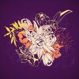 Bouquet stylisé des fleurs de ressort Photographie stock libre de droits