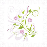 Bouquet of stylized roses in ornamental frame Stock Photos