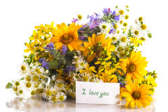 Bouquet of summer flowers Stock Photography