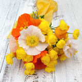Bouquet of summer flowers on a table Stock Photos