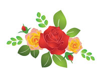 Bouquet of summer roses Royalty Free Stock Image