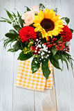 Bouquet with Sunflower Royalty Free Stock Photo