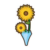 bouquet sunflower beuty image Royalty Free Stock Photography