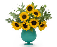 Bouquet of sunflowers Royalty Free Stock Photo