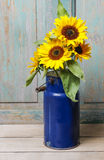 Bouquet of sunflowers, copy space Stock Photo
