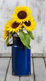 Bouquet of sunflowers, copy space Royalty Free Stock Photography
