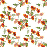 Bouquet sunflowers seamless pattern Stock Photography