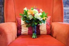 Bouquet sur la présidence rouge Photo stock