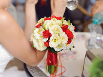 Bouquet sur la table Images libres de droits