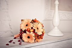 Bouquet sur le piano Photographie stock