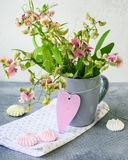 A bouquet of sweet pea flowers. stock photo