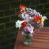 Bouquet of Sweet pea, Lathyrus odoratus, flowers Royalty Free Stock Photos