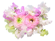 Bouquet of sweetpea and Persian buttercup Stock Photo