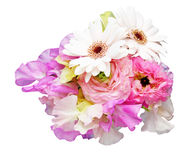 Bouquet of sweetpea ,persian buttercup and transvaal daisy Stock Images