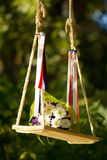 Bouquet on a swing Royalty Free Stock Image