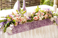 Bouquet on a table Stock Photos