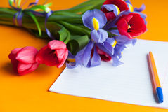 Bouquet on the table Royalty Free Stock Photography