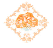 Bouquet of tea roses. Vector illustration eps 8  without gradients Stock Image