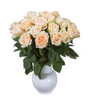 A bouquet of tea roses on a white background Stock Images