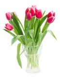 Bouquet of    tulip flowers in vase Stock Images
