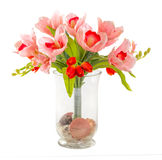 Bouquet of tulip and orchid Stock Image