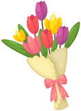 Bouquet of tulips flowers Royalty Free Stock Image
