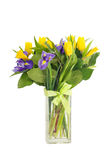 Bouquet of tulips and irises Royalty Free Stock Images