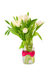 Bouquet of tulips isolated on white background Royalty Free Stock Images