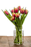 Bouquet of tulips in a mason jar Royalty Free Stock Photo
