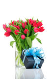Bouquet of tulips in the vase Stock Image