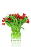 Bouquet of tulips in the vase Stock Images
