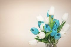 Bouquet of tulips in a vase Royalty Free Stock Photography