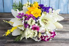 Bouquet of varied flowers royalty free stock images