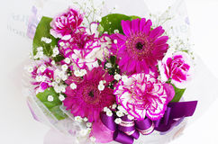 Bouquet of various spring flowers. Bouquet of various purple spring flowers Royalty Free Stock Photos