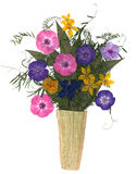 Bouquet in a vase of dry flowers Royalty Free Stock Image