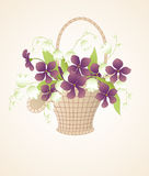 Bouquet of violets and lilies of the valley Royalty Free Stock Photography
