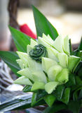 Bouquet weave made from pandan Royalty Free Stock Photos