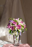 Bouquet and wedding dress Royalty Free Stock Images