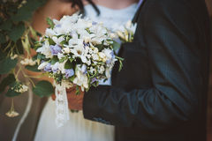 Bouquet of wedding flowers Royalty Free Stock Images