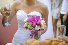 Bouquet at Wedding Party Stock Photo